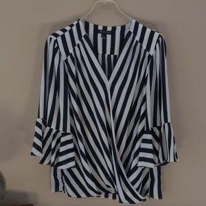 INC wrap front blouse